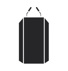 tribune iconblack icon isolated vector image