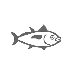 Tuna outline icon fishing vacation vector