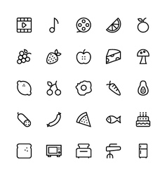 User interface colored line icons 39 vector