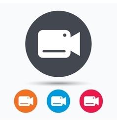 Video camera icon Film recording cam symbol vector image