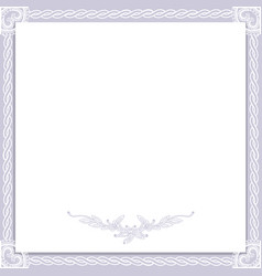 vintage wedding frame vector image