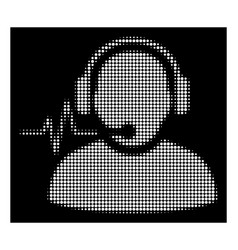 white halftone operator signal icon vector image