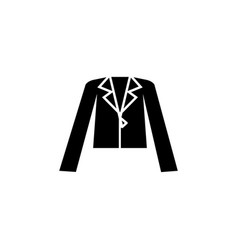 Womens leather jacket icon vector