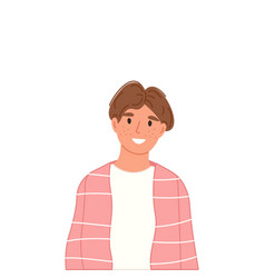 Young teen boy portrait isolated on white vector