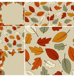 autumn set vector image