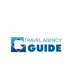 blue logo for travel agency vector image vector image