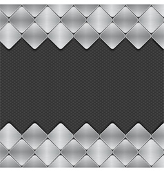 brushed metal mosaics on texture background vector image vector image
