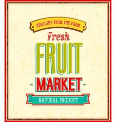 Fruit market design vector image