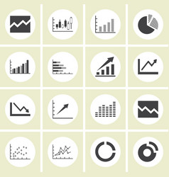 graph icon set vector image vector image