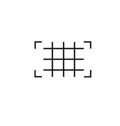 grid icon vector image vector image