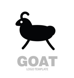 linear stylized drawing goat or nanny vector image