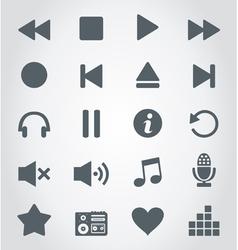 Media an icon vector image vector image