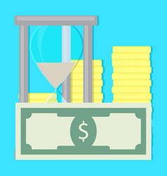 money and time vector image vector image