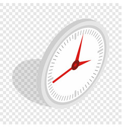 white office clock isometric icon vector image