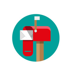 opened mailbox with regular mail vector image vector image