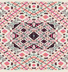 ethnic seamless pattern aztec geometric vector image vector image