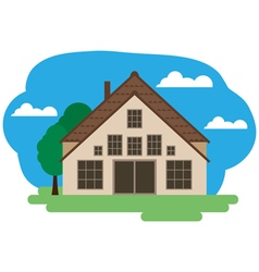 farmhouse vector image vector image