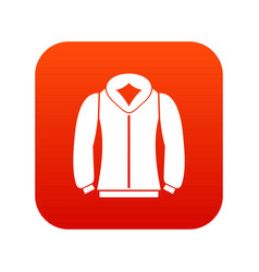 sweatshirt icon digital red vector image vector image
