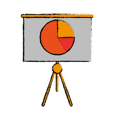drawing business presentation chart finance board vector image