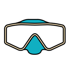 Googles snorkels isolated icon vector