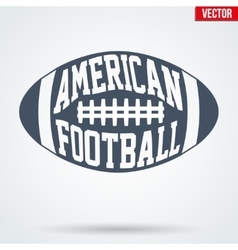 Sports symbol ball of American football with vector image vector image