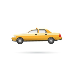 Taxi isolated on a white backgrounds vector image vector image