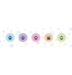 5 tracks icons vector
