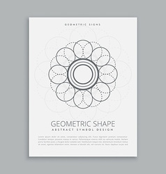 abstract geometric shape design vector image