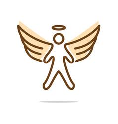 angel fly logo vector image