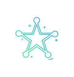 Badge police award law icon design vector