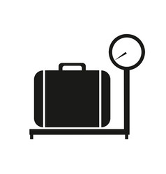 baggage scale icon on white background vector image