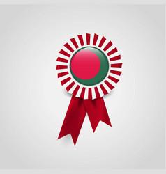 bangladesh flag badge design vector image
