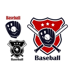 Baseball sport emblems vector image