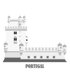 Belem tower in lisbon portugal torre de belem vector