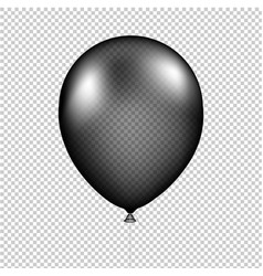 Black balloon isolated vector