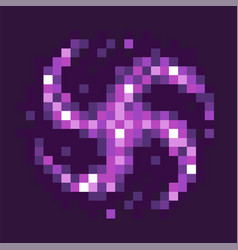 Black hole celestial body pixel game graphics vector