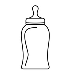 bottle nipple icon outline style vector image