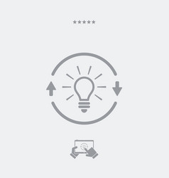 brainstorm concept - web icon vector image