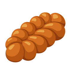 bread icon homemade traditional loaf fresh vector image