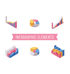 business infographic elements isometric vector image