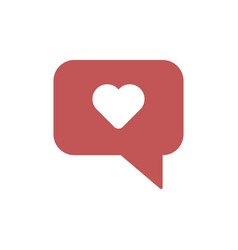 chat and heart icon vector image