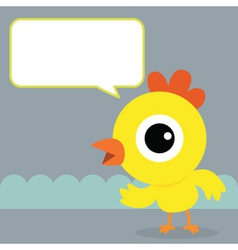 Chicken Bubble Talk vector image