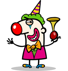 Clown performer cartoon vector
