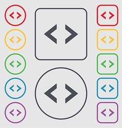 Code sign icon Programmer symbol Symbols on the vector