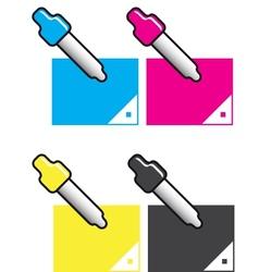 Color CMYK Icon Set vector image