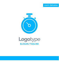 compass map navigation pin blue solid logo vector image