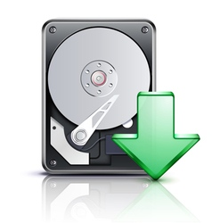 computer download concept vector image