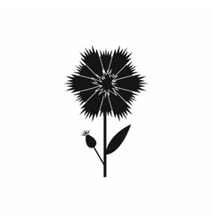 Cornflower icon in simple style vector image