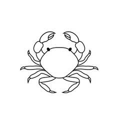 crab in line art style vector image