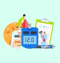 Diabetes mellitus care banner vector